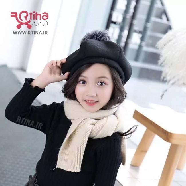 کلاه گرد فرانسوی پشمی (بچه گانه) مدل XIA0
