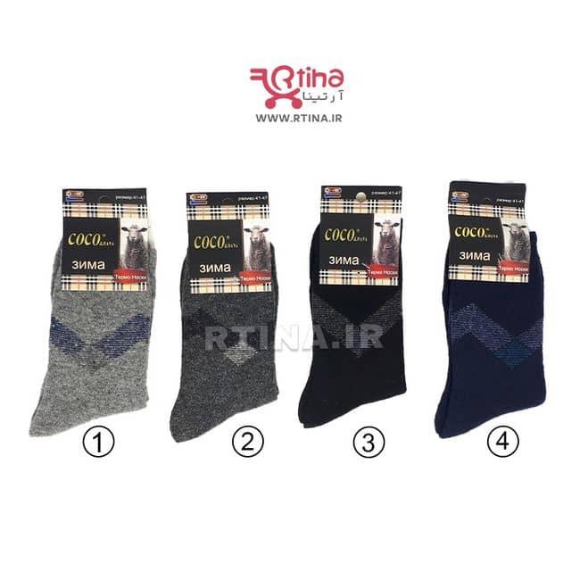 جوراب مردانه پشمی مدل Jinfeng