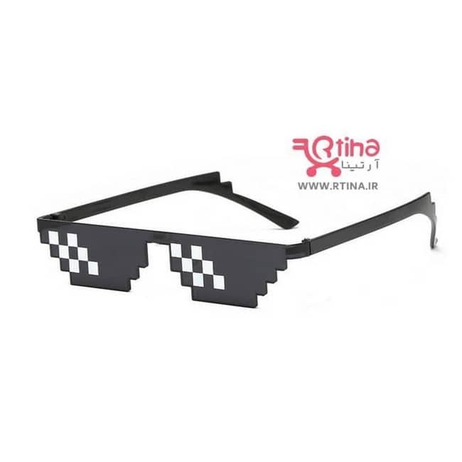 عینک آفتابی تزئینی مدل پیکسلی
