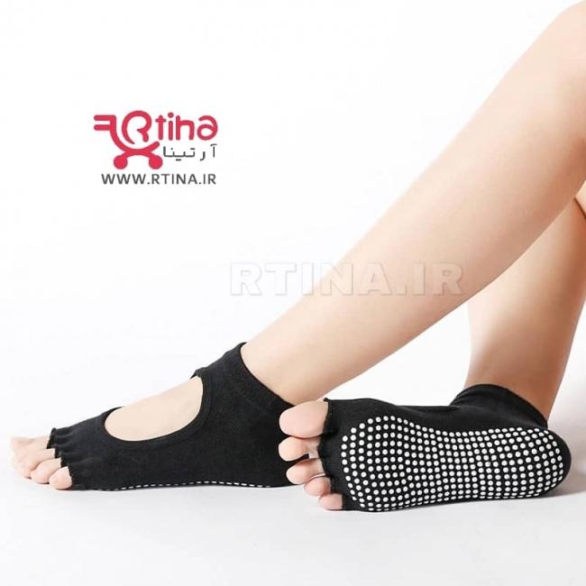 جوراب ورزشی بدون انگشت ژله ای مدل RTS52