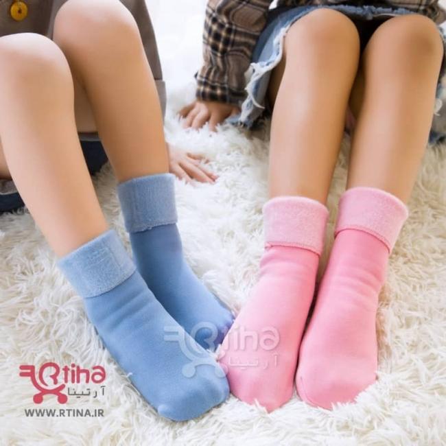 جوراب رنگی ساپورتی مدل توخز (بچه گانه و زنانه) RTS-22