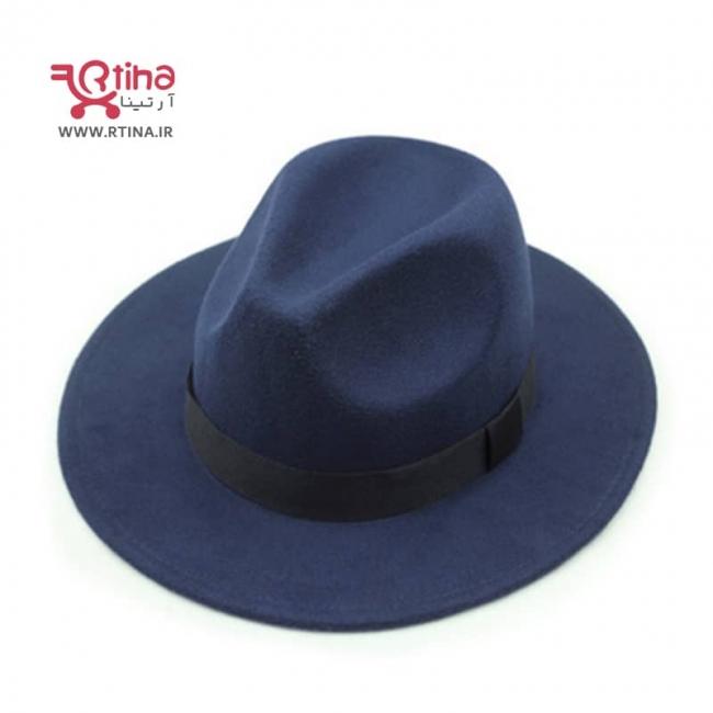 کلاه شاپو کلاسیک رنگ سورمه ای تیره مدل RT-704
