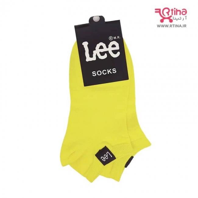 جوراب زنانه رنگ زرد فسفری مدل مدل RT-LEE-04