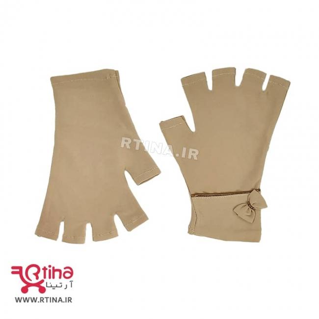 دستکش نیم انگشت پارچه ای دخترانه و زنانه مدل RT-SI03