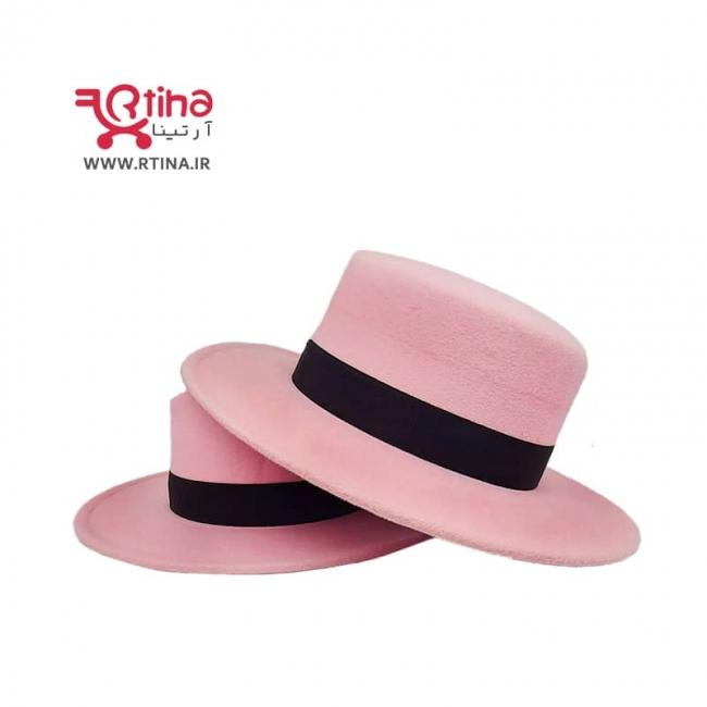 کلاه گرد لبه دار دخترانه/زنانه رنگ صورتی مدل RT-SP1