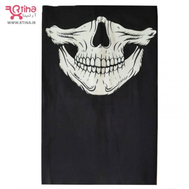 ماسک اسکارف شب تاب طرح جمجمه- اسکلت