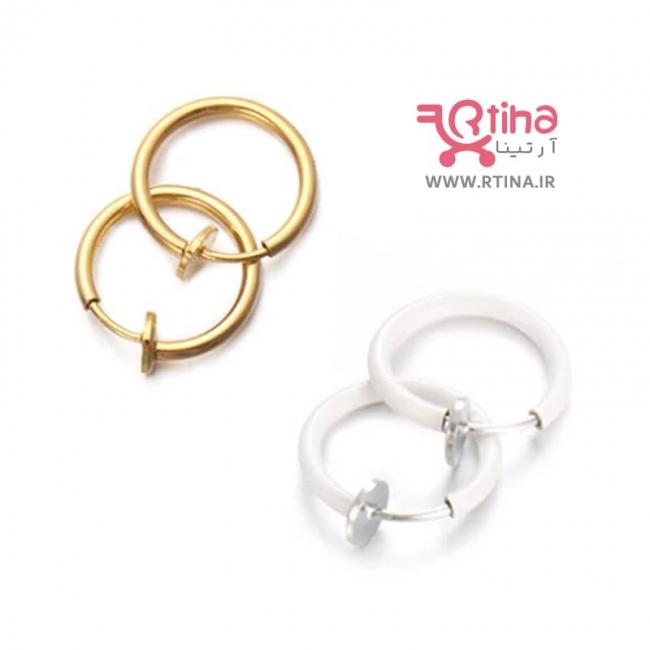 گوشواره فیک گوش پسرانه دخترانه (مدل حلقه کوچک)