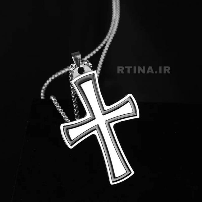 گردنبند صلیب مردانه و زنانه استیل (ضد زنگ)