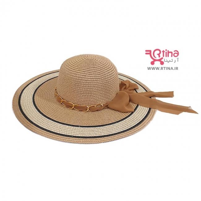 کلاه دور گرد و لبه پهن ساحلی (زنجیر دار)/ دخترانه و زنانه