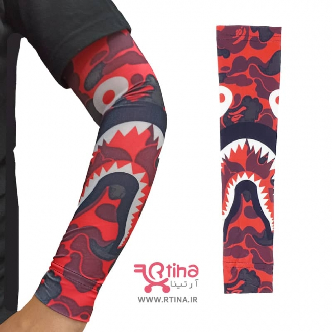 ساق دست اسپرتی پارچه ای طرح چریکی قرمز