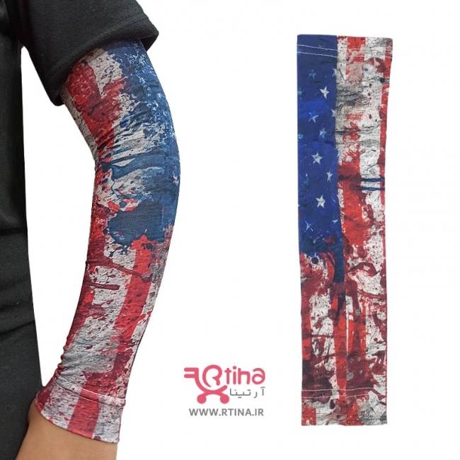 ساق دست پرچم آمریکا مدل پارچه ای (زنانه و مردانه)