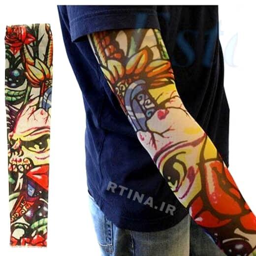 طرح تاتو ساق دست مردانه و زنانه مدل رنگی