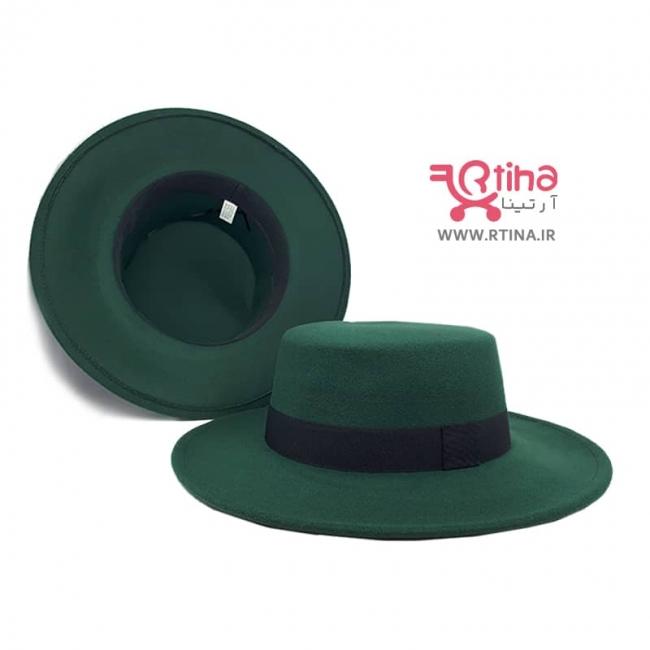کلاه کلاسیک زنانه /مردانه رنگ سبز تیره مدل خاخامی