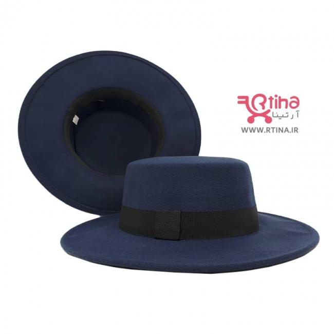 کلاه لبه گرد مردانه /زنانه رنگ سورمه ای مدل خاخامی