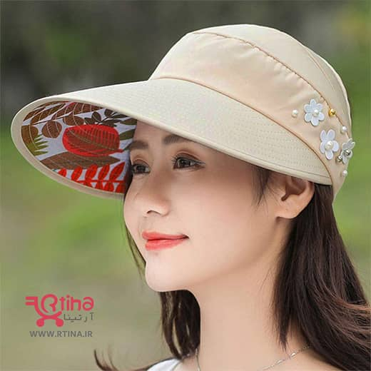 کلاه آفتاب گیر زنانه مدل تاشو (نقاب آفتابگیر)