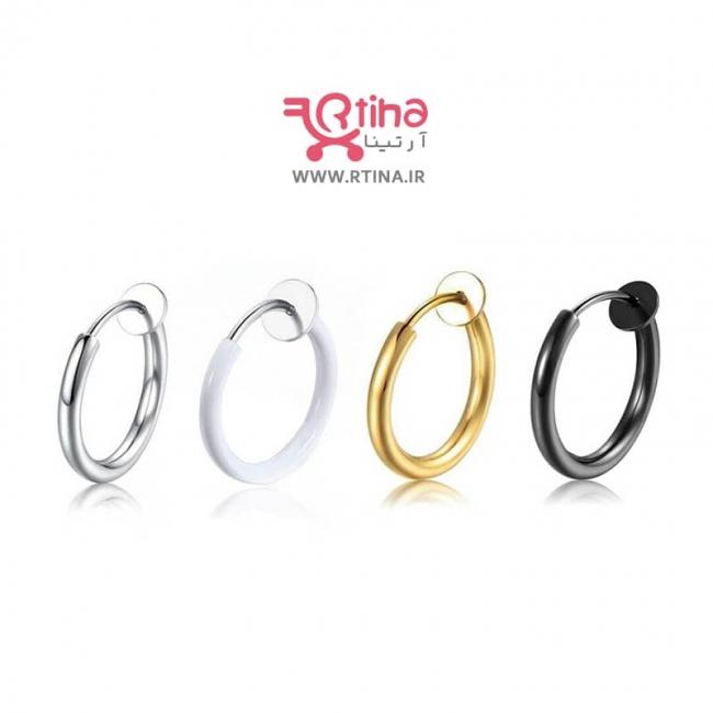 گوشواره فیک گوش مدل حلقه کوچک/ گوش و بینی