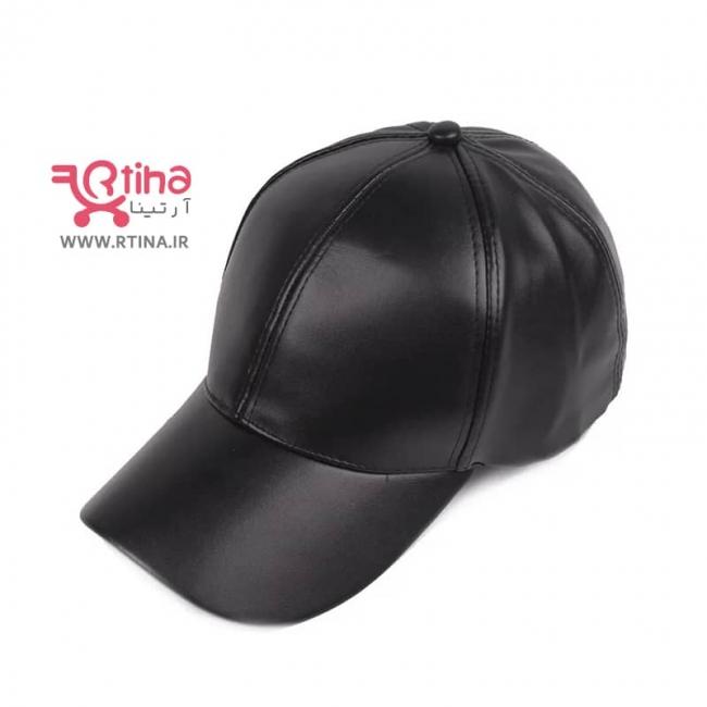کلاه چرم مشکی نقابدار طرح ساده (زنانه و مردانه)