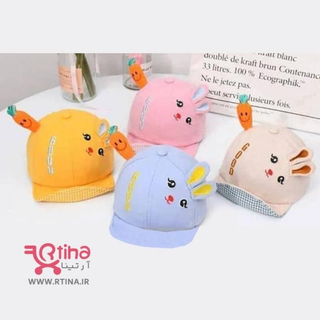 کلاه نقاب دار پسرانه/ دخترانه نوزادی مدل خرگوش و هویج