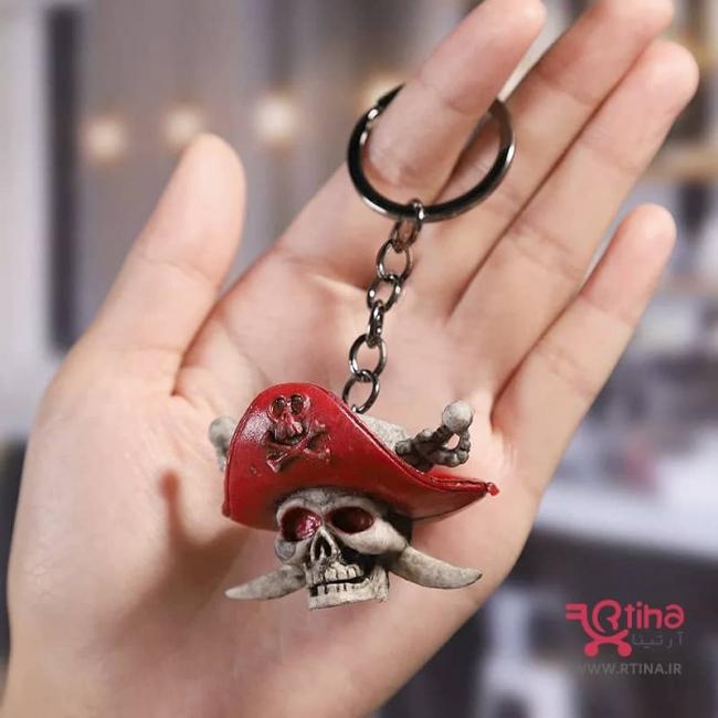 جاسوئیچی اسکلت مدل دزد دریایی کلاه قرمز