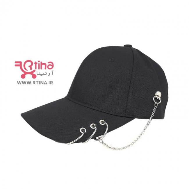 کلاه نقاب دار اسپرت دخترانه مدل زنجیری/ پیرسینگی
