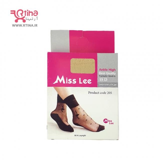 جوراب زنانه شیشه ای طرح دار میس لی (پارازین نازک)