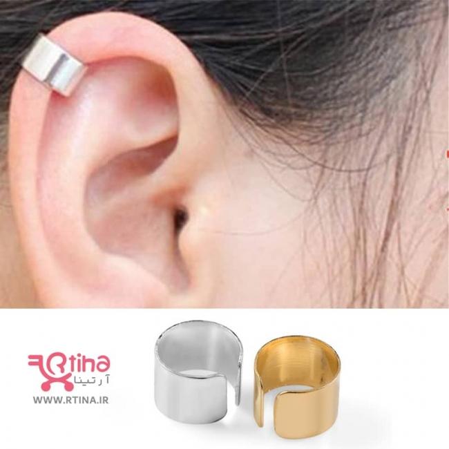 گوشواره لاله گوش بدون سوراخ (مدل تزئینی فلزی)