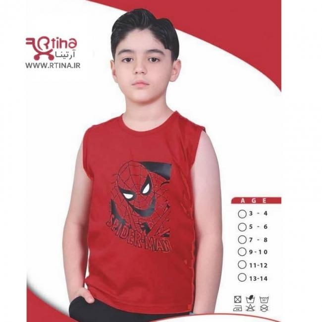 تی شرت مرد عنکبوتی بچه گانه مدل تاپ حلقه ای