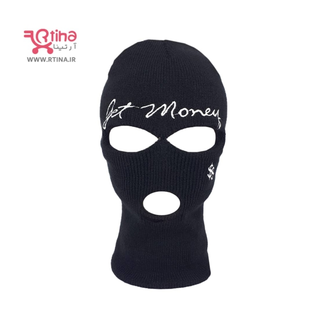 کلاه سه سوراخه /کلاه فیس مشکی زنانه و مردانه/ مدل Get Money