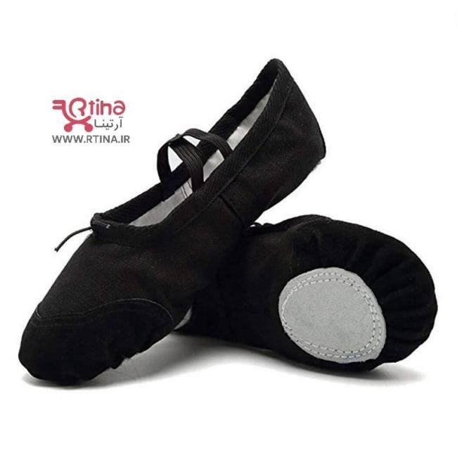 پاپوش رقص و یوگا دخترانه و زنانه (کفش رقص باله/ پیلاتس/  تمرین تئاتر)