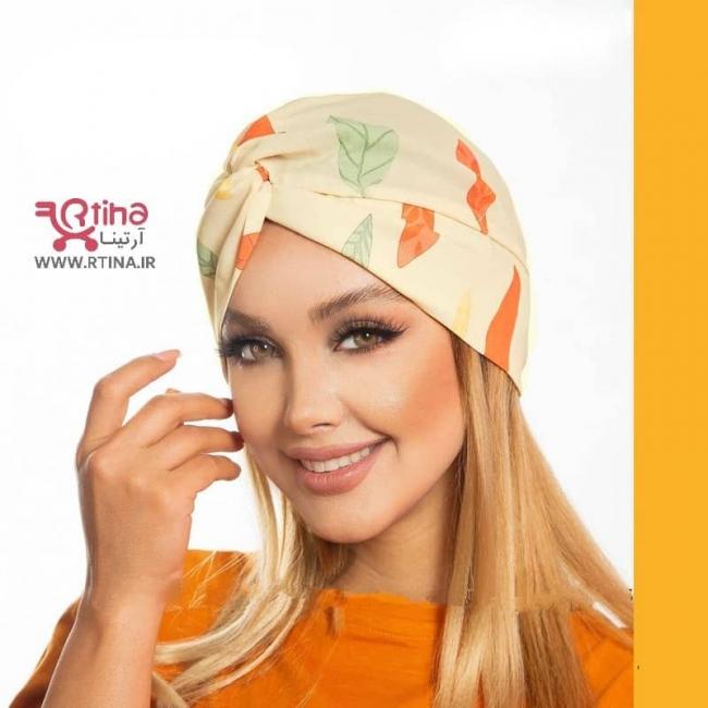 کلاه حجاب مجلسی توربان مدل گلدار
