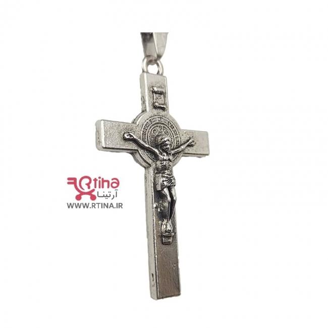 گردنبند صلیب مسیح مردانه/ زنانه+ زنجیر رایگان