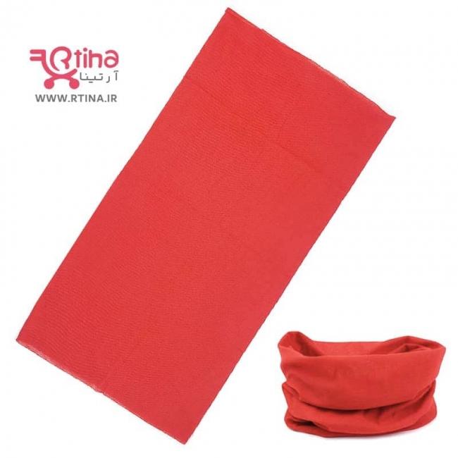 اسکارف ساده رنگ قرمز (دستمال سر و گردن دخترانه و پسرانه)
