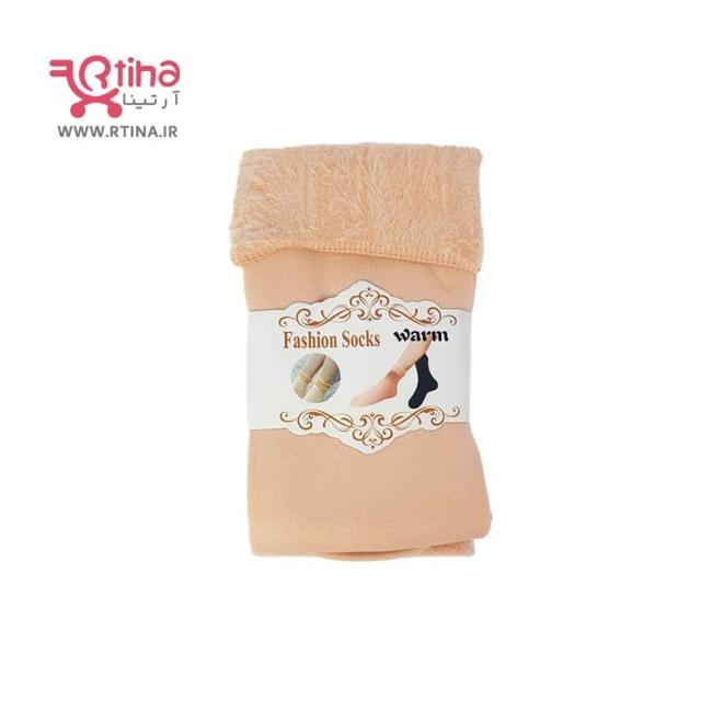 جوراب زمستانی دخترانه و زنانه ضخیم و توکرکی