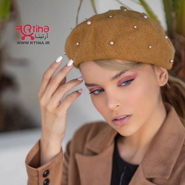 کلاه فرانسوی برت خارجی رنگ شتری