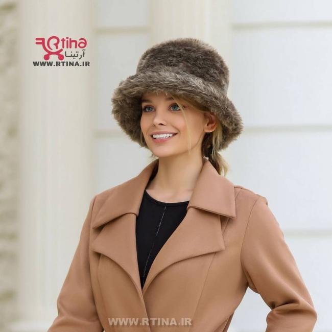 کلاه خز دار زنانه و دخترانه مدل باکت Womens Bucket Hat