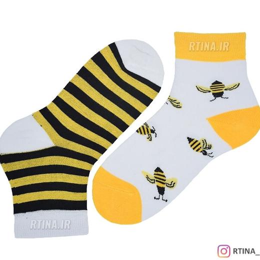 جوراب تا به تا طرح زنبور