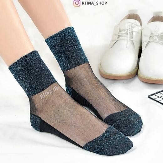 جوراب لمه رنگ سورمه ای و هفت رنگ