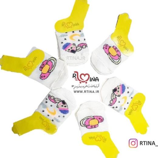 جوراب نوزادی تا به تا مدل a1