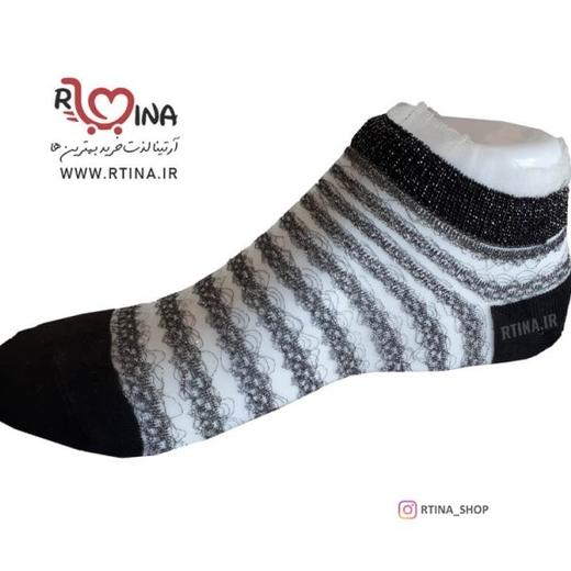 جوراب شیشه ای طرح راه راه