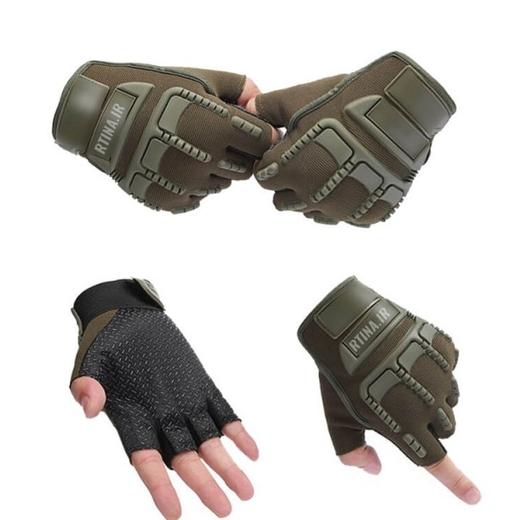 دستکش بدون انگشت اسپرت تاکتیکی طرح 1