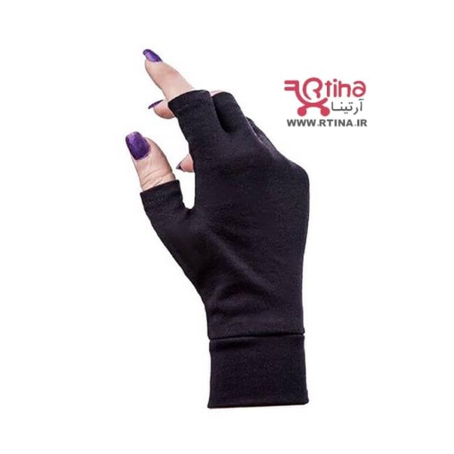 دستکش نخی نیم انگشت ساده