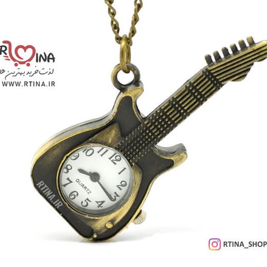 گردنبند ساعت مدل گیتار