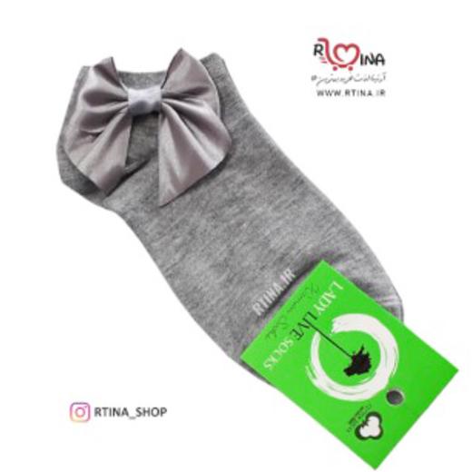 جوراب کوتاه مچی طرح پاپیون