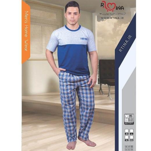 ست لباس مردانه تیشرت و شلوار چهار خانه کد 202
