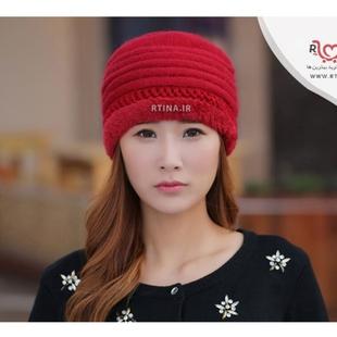 کلاه قرمز زمستانی دخترانه جدید