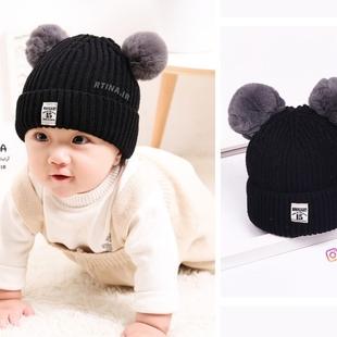 کلاه بافتنی پوم پوم دار نوزاد