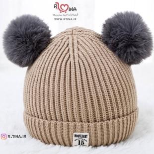 کلاه بافتنی پوم پوم دار