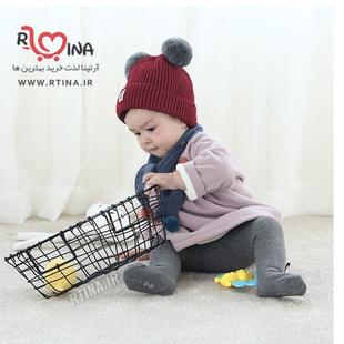 کلاه نوزادی بافتنی پوم