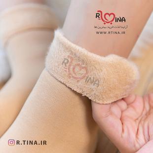 جوراب زنانه زمستانی خزدار
