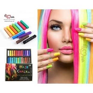گچ رنگی برای مو